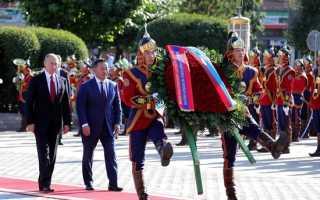 Президент монголии и путин