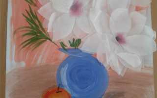 Как нарисовать натюрморт цветы в вазе
