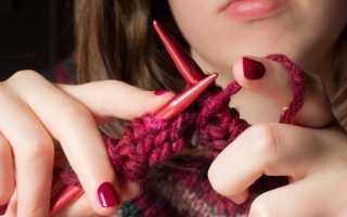 Как вязать шарф спицами для начинающих пошагово
