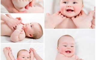 Как делать массаж новорождённому ребёнку