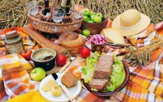 Что взять на пикник из еды список