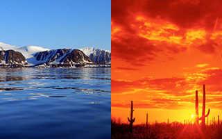Какого цвета холодная вода