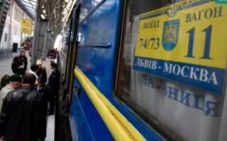 Какие поезда ходят из России в Украину