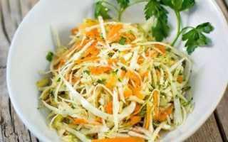 Как приготовить салат из капусты с морковью