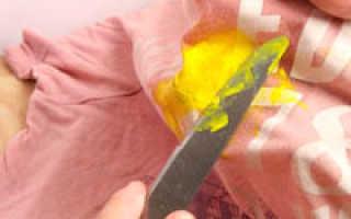 Чем отмыть масляную краску с одежды