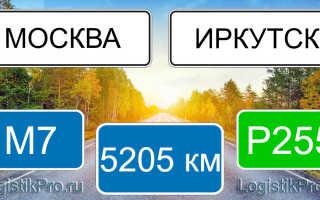 Какое расстояние от Иркутска до Москвы