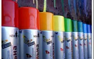 Какие бывают краски в баллончиках