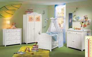 Какая температура должна быть в комнате младенца