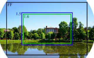 Что такое кроп фактор в зеркальном фотоаппарате