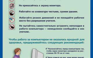 Какие действия запрещены в кабинете информатики