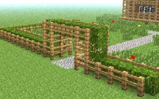Как сделать забор в Майнкрафте